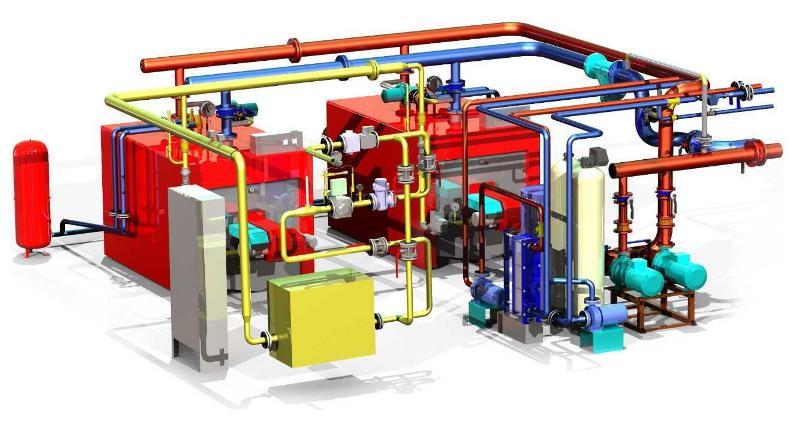 блочно модульная газовая котельная установка