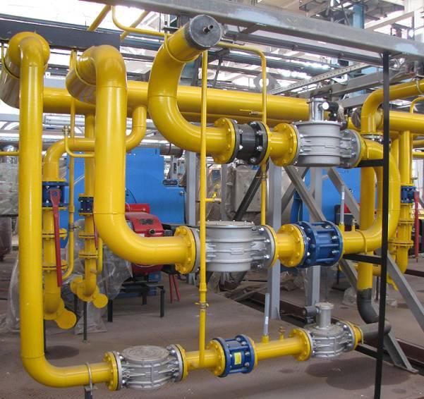 монтаж внутреннего газопровода